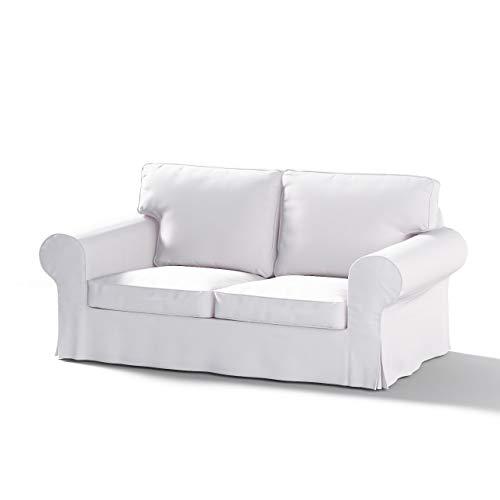 Dekoria Ektorp 2-Sitzer Schlafsofabezug ALTES Modell Sofahusse passend für IKEA Modell Ektorp Weiss