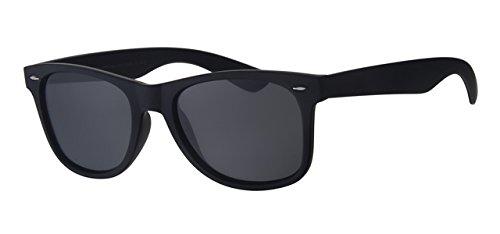 Eyewear World Polarisierte Sonnenbrille, gratis Beutel & Gelb Hals Kordel, Glare blockierender schwarz Lens, rutschfestem schwarz Rahmen