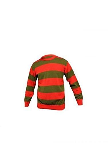 TrendyFashion Herren Sweatshirt, Gestreift Freddy Krueger