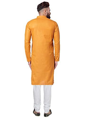 Jompers Men's Cotton Kurta Pyjama Set(Yellow,XL)