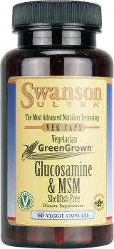 Swanson Ultra Vegetarian Glucosamine & MSM (Shellfish Free, 60 Vegetarian Capsules) from Swanson Health Products