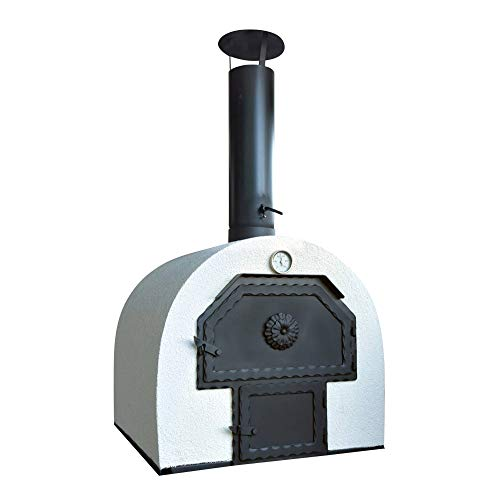 acerto 40239 Forno pizza Forno per il pane 2 Chambers - Outdoorofen Forno a legna Forno dolce fiamma Riscaldatore di giardino