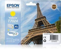 Epson, cartuccia di inchiostro originale, C13T70244010 - T7024, misura XL, colore giallo, per WorkForce Pro WP-4015, WP-4025, WP-4095, WP-4515, WP-4525, WP-4535, WP-4545, WP-4595