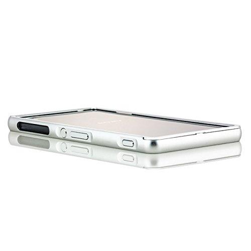 Coque aluminium iPhone 5 5S SE [Saxonia] Case Métal Housse Bumper rigide Ultra-mince Rose Gold (Or) Argent