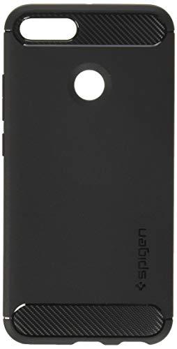 Spigen [Rugged Armor Xiaomi Mi A1 Hülle (S09CS23087) Robuste TPU Silikon Schutzhülle Stylisch Karbon Design Handyhülle Case - Schwarz