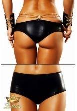 """Preisvergleich Produktbild Wetlook-Panty """"Chain"""" Damenslip mit Metallring und Ketten schwarzer Shorts Unterhosen von Lolitta Dessous (S/M (32-36))"""