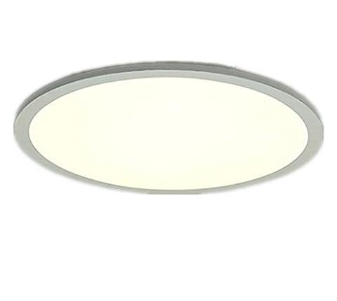 Deckenleuchte Warmweiß Ultraslim Ultraflach Modern Badezimmer Panel Badlampe Deckenlampe Decke Lampen Weiß Flach Runde Küche Acryl Pvc Innen Beleuchtung Schlafzimmerlampe Leuchte Für Schlafzimmer Bad