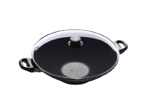Swiss Diamond Induction Nonstick Wok with Lid - 14'
