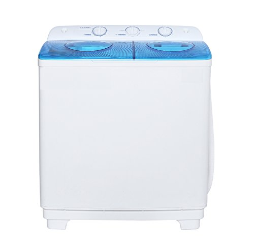 Lloyd 8.5 kg Semi-Automatic Top Loading Washing Machine (LWMS85SP, White and Transparent Blue)