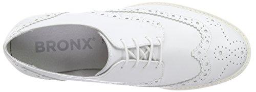 Bronx Bvinox, Oxfords femme Blanc - Weiß (04 White)