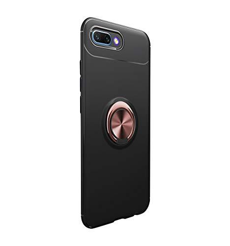 14chvier Huawei Honor 10 Hülle, Honor 10 Silikon Schutzhülle Handyhülle Shockproof Handytasche Ultra dünn Auto Mount Halter Schutz mit Griff Ring Halter (06) -