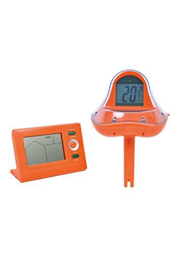 Jilong WiFi Pool Thermometer + externer Empfänger Funk-Thermometer für Schwimmbad Schwimmbecken, schwimmende Wassertemperatur Anzeige in °C und °F