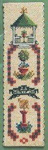 Marque-page Jardin Victorien–Kit broderie pour point de croix Motif