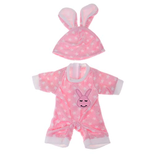 P Prettyia Schöne Puppe T-Shirt Hosen Hut Anzug für Mädchen Puppen Dress Up Outfit Zubehör - # 2 (Dress Up Doll Für Jungen)