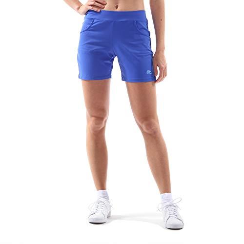 Sportkind Mädchen   Damen Tennis Fitness Bermuda Shorts, Kobaltblau, Gr. M 7c68ce658f