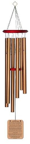 Chimesofyourlife rb-cat-35 Windspiel, Regenbogenbrücke, Gedicht für Haustiere, 89 cm, bronzefarben