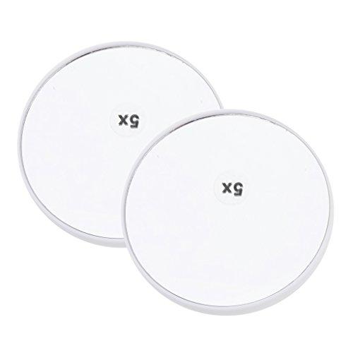 Homyl 2stk. 3/5/15x Vergrößerung Spiegel Saugnapfspiegel Kosmetikspiegel Taschenspiegel, Tragbar...