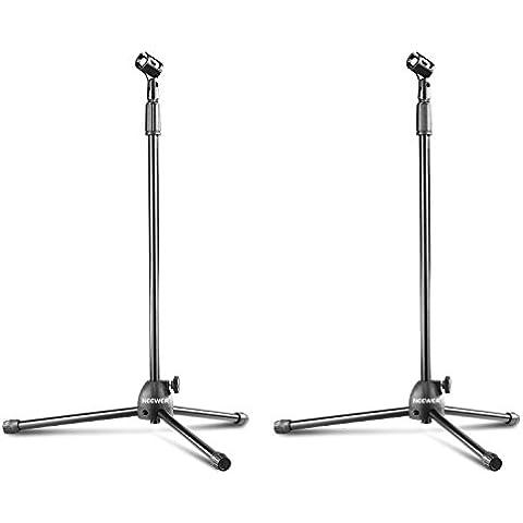 Neewer® NW-106 Tipo Plegable Ajustable Desde 32,5 Hasta 53 Pulgadas / 83-135cm Micrófono del Trípode del Soporte del Piso con el Clip y el Mando (paquete de