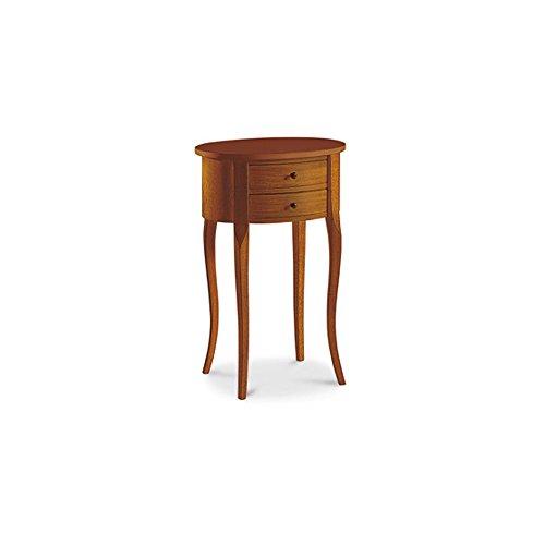 InHouse srls Nachttisch vielzweck, Stil klassisch, aus Massivholz u. MDF, Ausführung Nussbaum Hochglanz - 44 x 31 x 66 ... -