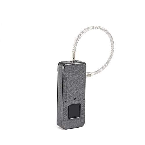 Smart fingerprint padlock abs + pc materiale anti-ruggine portatile antifurto mobile lucchetto adatto per i bagagli da viaggio all'aperto,silver