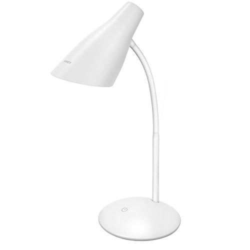 AUKEY LED Tischlampe 5 W, Augenschutz USB-betriebene Lampe mit Touchbedienung, Helligkeitsanpassung und flexiblem Lampenhals zum Lesen und für mehr (LT-ST13) Audio-5.25