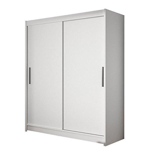 Schwebetürenschrank Westa I Kleiderschrank, Modernes Schlafzimmerschrank, Schiebetürenschrank, Garderobe, Schlafzimmer (Weiß)