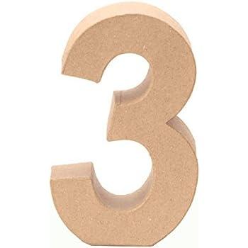 Takestop/® Chiffre /«/5//»/en bois blanc Id/éal pour la cr/éation de cadeaux personnalis/és ou comme d/écoration de table /à l/'occasion d/'un mariage d/'une hauteur de 11/cm