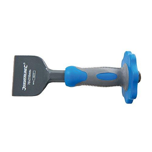 Silverline 781710 Cincel de Albañil con Protector, 70 x 216 mm
