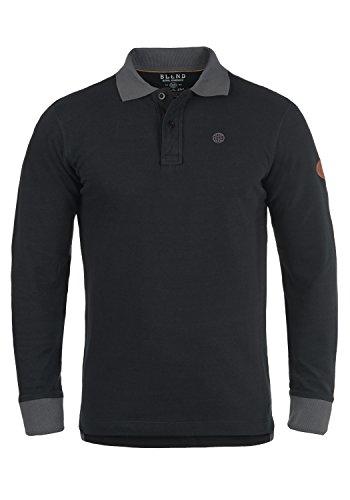 BLEND Ralle - Polo da Uomo, taglia:XL;colore:Black (70155)