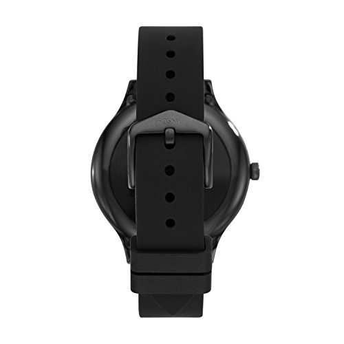 Fossil Q Venture Smartwatch Gen.3 Unisex - Black Stainless Steel Case with Black Silicone Strap - Compatible Android and iOS