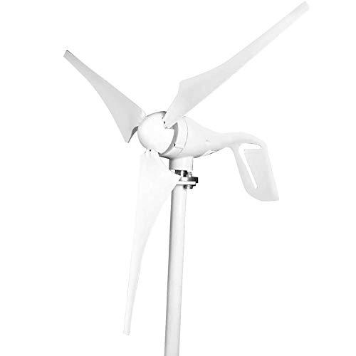 Generatore eolico, generatore di vento orizzontale a turbina eolica da 400 W DC, 3 pale, resistente al calore e al freddo per uso domestico (12V / 24V) (12V)