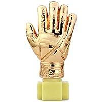 WM-Trophäe, Sport-Fußball-Liga-Gedenk-Trophäe Reproduktion Version Kupfer-Handschuhe Schriftzug Version - Gold