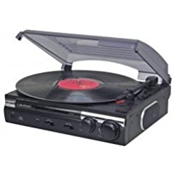 Lauson CL145 Tocadiscos Estéreo 2 velocidades (33/45 RPM) con Altavoces Integrados y Función Encoding, Vinilo a MP3