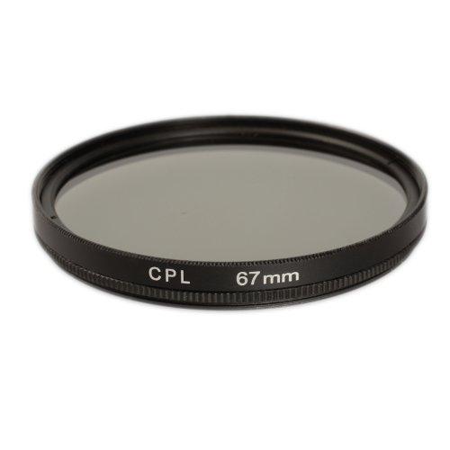 Ares Foto® CPL Zirkular-Polfilter Polarisationsfilter, optisches Glas & Aluminium. Für Canon Sony Nikon Fujifilm Pentax Tamron Sigma Leica Olympus Panasonic (67mm)