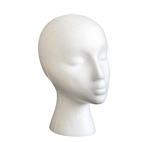Kopf Modell Bovake Styropor-Schaum-Mannequin Weiblicher Kopf Modell Dummy Perücke Glas Hut-Ausstellungsstand