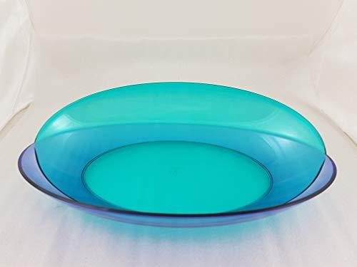 1a Tupperware - Eleganzia Servierschale - blau grün