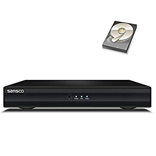 SANSCO 8 Channel 1080N Standalone CCTV DVR Recorder with 1TB Pre-installed Hard Drive Disk (P2P Technologies, Rapid USB Storage Backup, Mobile App: Xmeye)