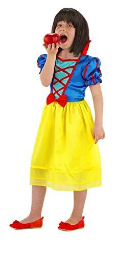 Folat 21862 Kinderkostüm Schneewittchen , Mehrfarbig, 3-5 Jahre (Herstellergröße  : 98-116 - Schnee Motto Party Kostüm