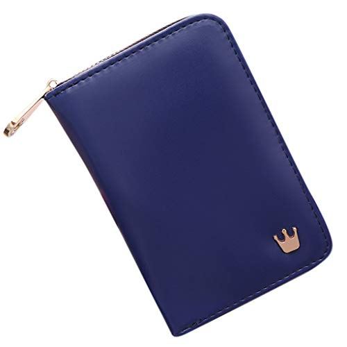 Cenlang Wallet For Women With Coin Pocket Bag, Lady Short Women Wallets Crown Decorated Mini Money Handbags,Small Fold Leather Pu Card Card Holder Wallet -