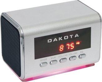 Mini-Lautsprecher / MP3+MP4-Player / FM-Radio, USB, TF-Karte, silbergrau -