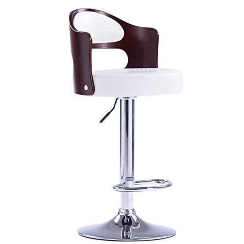 Duoer-sedie pieghevoli sgabello girevole per bar da colazione in legno con struttura girevole sedia per sala da pranzo da bar in metallo con base in metallo cromato. altezza regolabile (color : b)