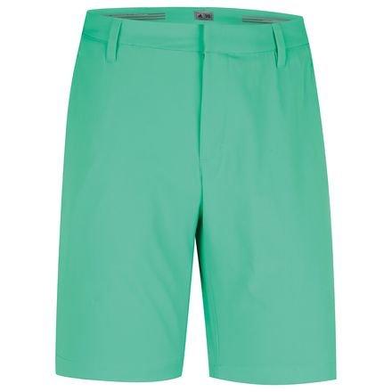 2015 Adidas Puremotion Stretch 3-Stripes Mens Golf Flat Front Shorts Bright Green/Mid Grey 32 - Adidas-stretch-shorts