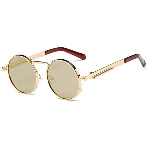 Huicai Runde Brille Brille Sonnenbrille Vintage Retro für Männer und Frauen Brillen