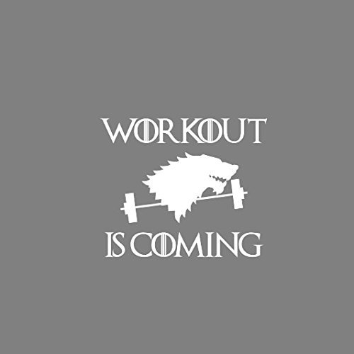 GoT: Workout is Coming - Stofftasche / Beutel Weiß