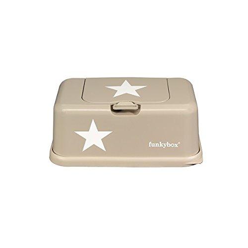 Funkybox Feuchte Reinigungstücher, Stern-Motiv, Beige