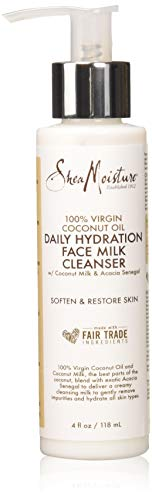 SHEA MOISTURE 100% Virgin Coconut Oil Daily Hydration Face Milk Cleanser