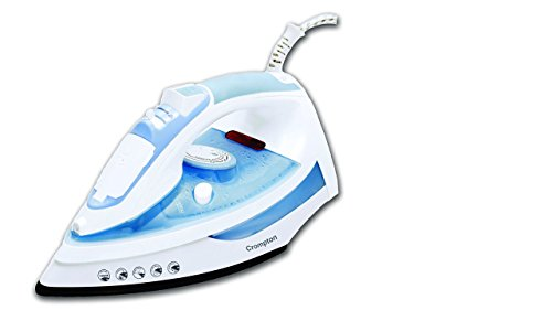 Crompton 1400-Watt Presto Steam Iron (White/Blue)