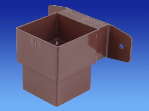 wavin-osma-4t824-brown-pipe-connector-and-bracket-stand-off-61mm-square-downpipe