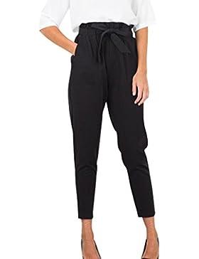 DAYLIN Mujer Pantalones Lápiz Casual Cintura Alta Slim Algodón Mezclado Pantalones