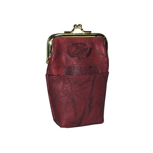 Buxton Damen Framed Case Heiress Pik-me-up gerahmte Hülle, burgunderfarben, Einheitsgröße - Gerahmte Geldbörse Aus Leder